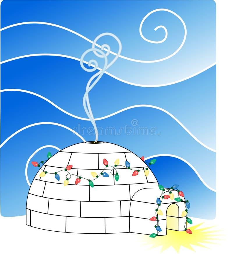 De Iglo van Kerstmis royalty-vrije illustratie