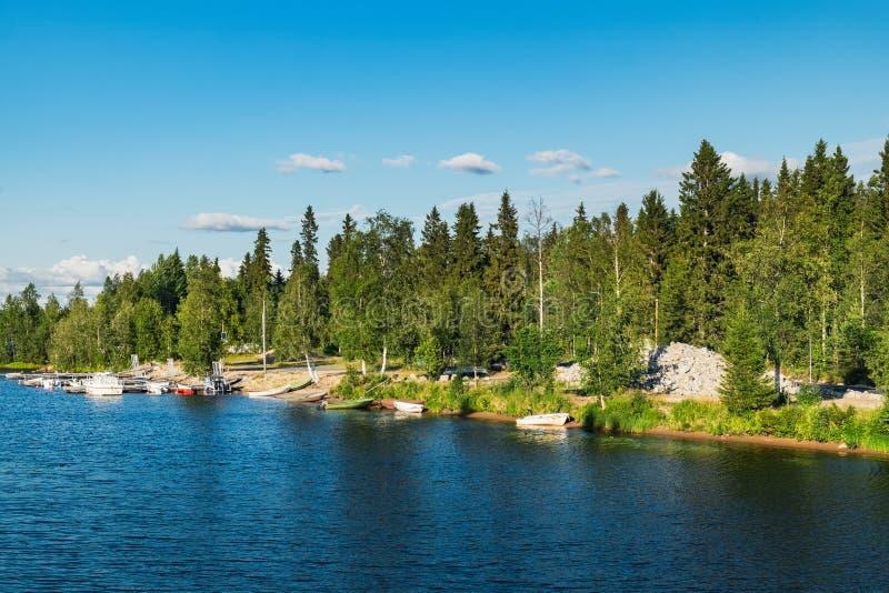 De Iijoki-rivier in Noord-Ostrobothnia, Finland royalty-vrije stock fotografie