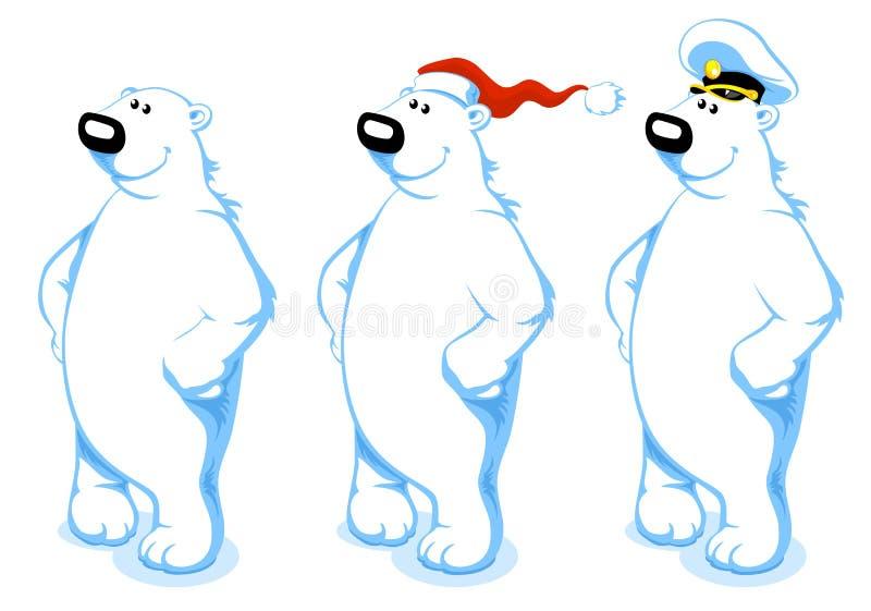 De ijsbeer van het beeldverhaal stock illustratie