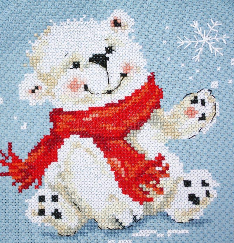 De ijsbeer van het nieuwjaar royalty-vrije stock fotografie
