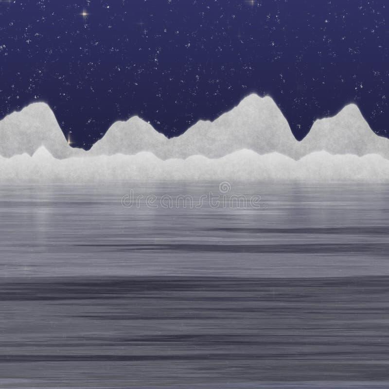 De ijsberg van de nacht royalty-vrije illustratie