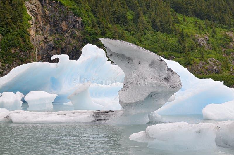 De Ijsbergen van het Portagemeer stock foto's