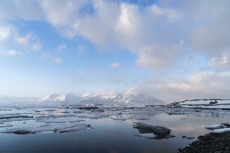 De Ijslandse Meningen van de gletsjerlagune stock fotografie