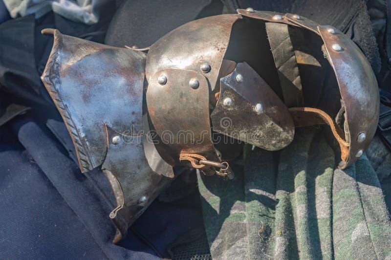 De ijzerhandschoen van Ridder zonnige dag stock foto