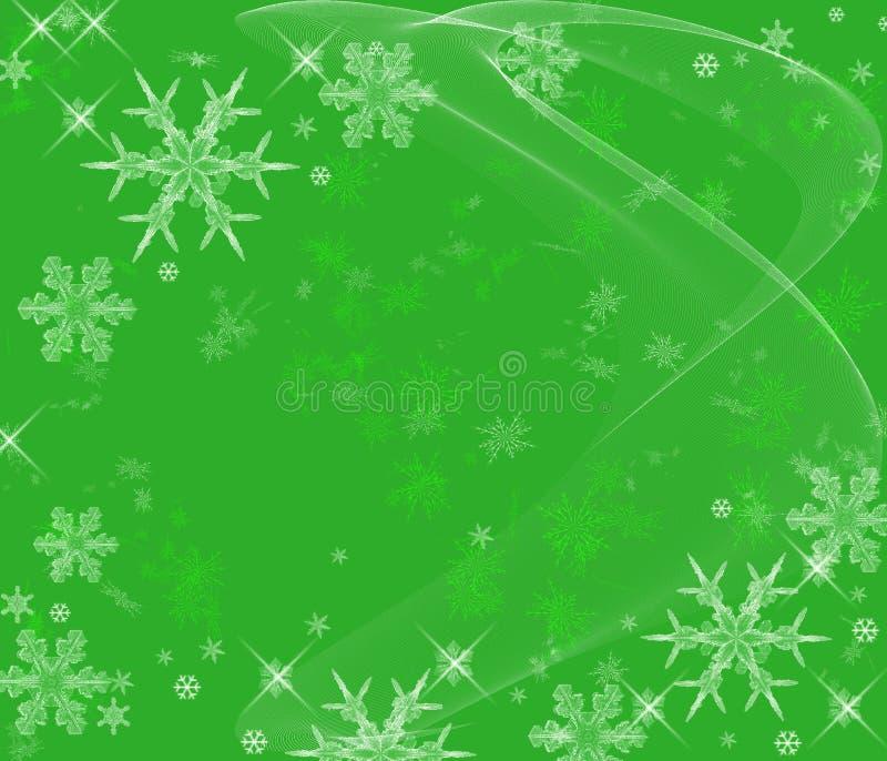 De ijzige Achtergrond van Sneeuwvlokken vector illustratie