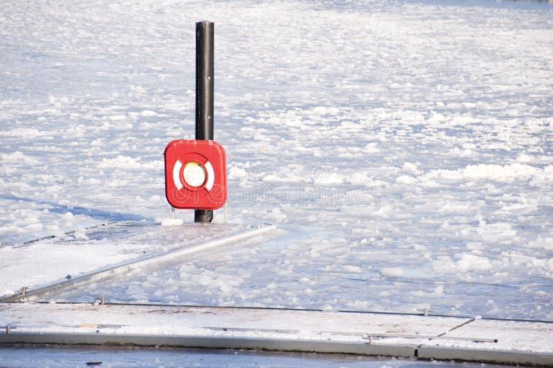 De ijzige winter stock afbeelding