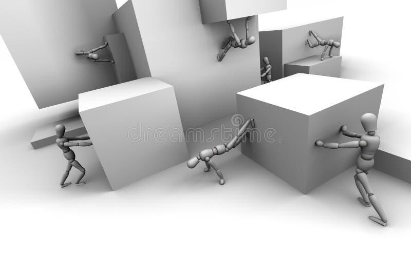 De Illusie van de ledenpop vector illustratie