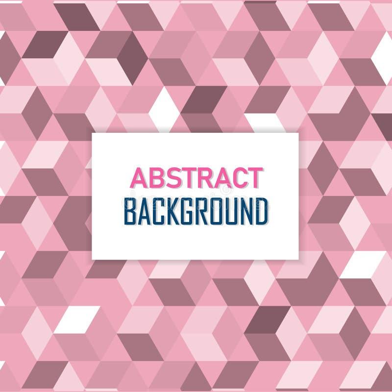 De illustratie is Geometrische Naadloze roze en witte textuur Kan als achtergrondbehang worden gebruikt of in druk verfraaien stock illustratie
