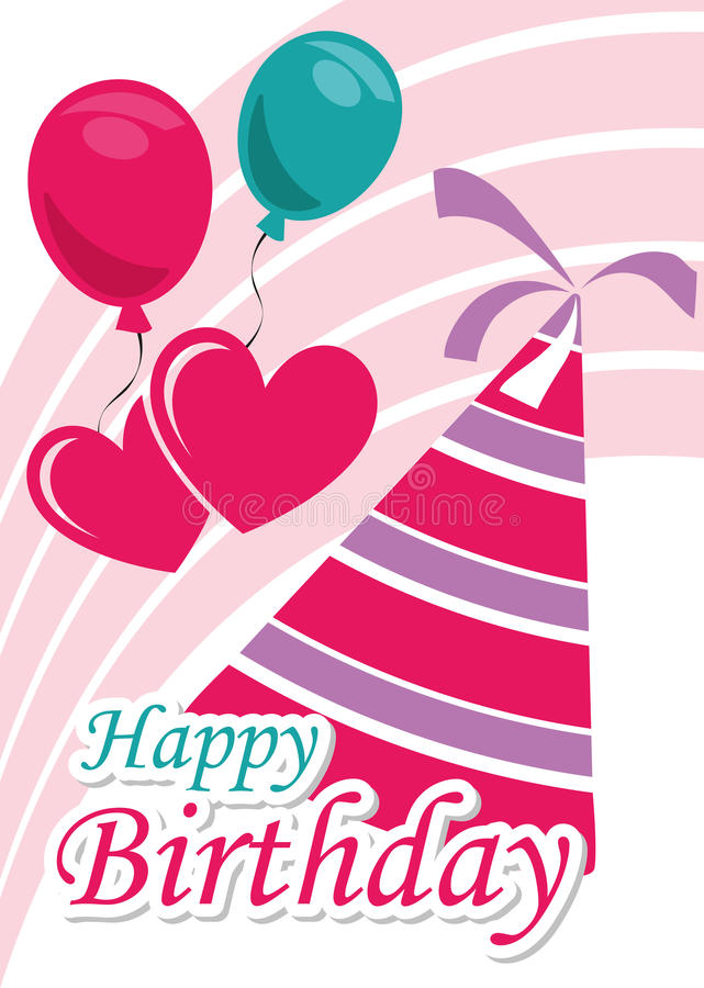 De Illustratie Grafische Vector Gelukkige Verjaardag van de affichekaart aan u vector illustratie