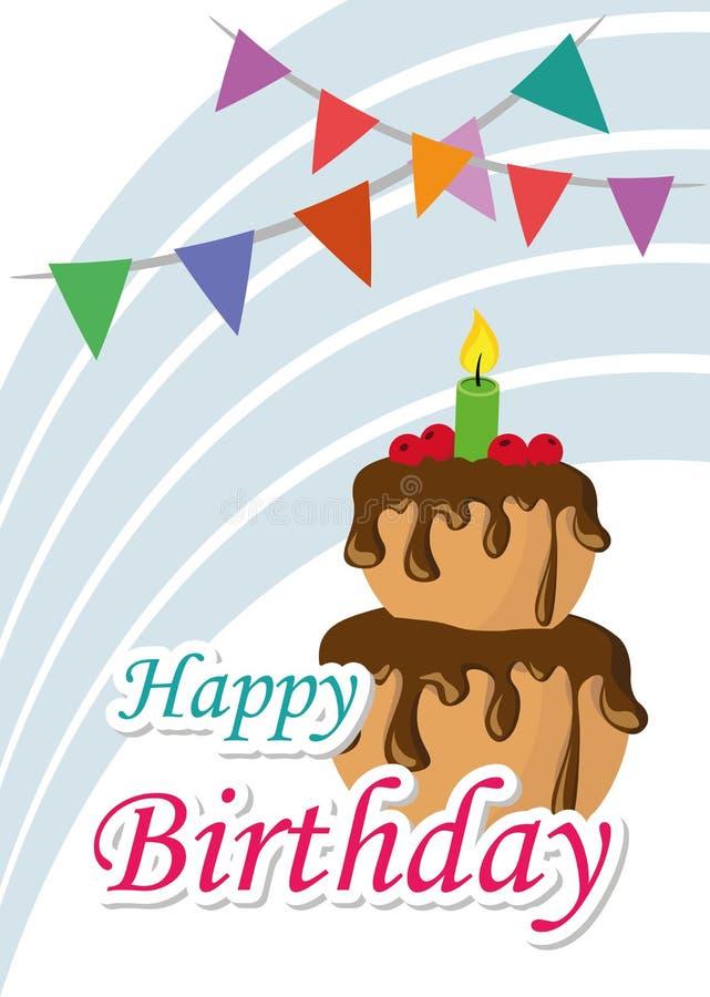 De Illustratie Grafische Vector Gelukkige Verjaardag van de affichekaart aan u royalty-vrije illustratie