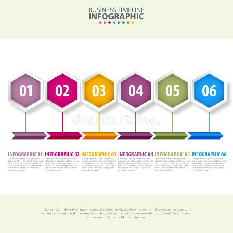 De illustratie ontwerpmalplaatje van het het bedrijfs van Infographics royalty-vrije illustratie