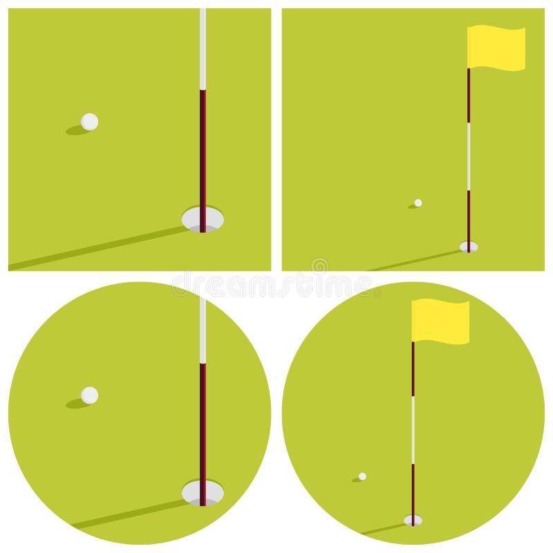 De illustratie op het thema van golf royalty-vrije stock afbeeldingen