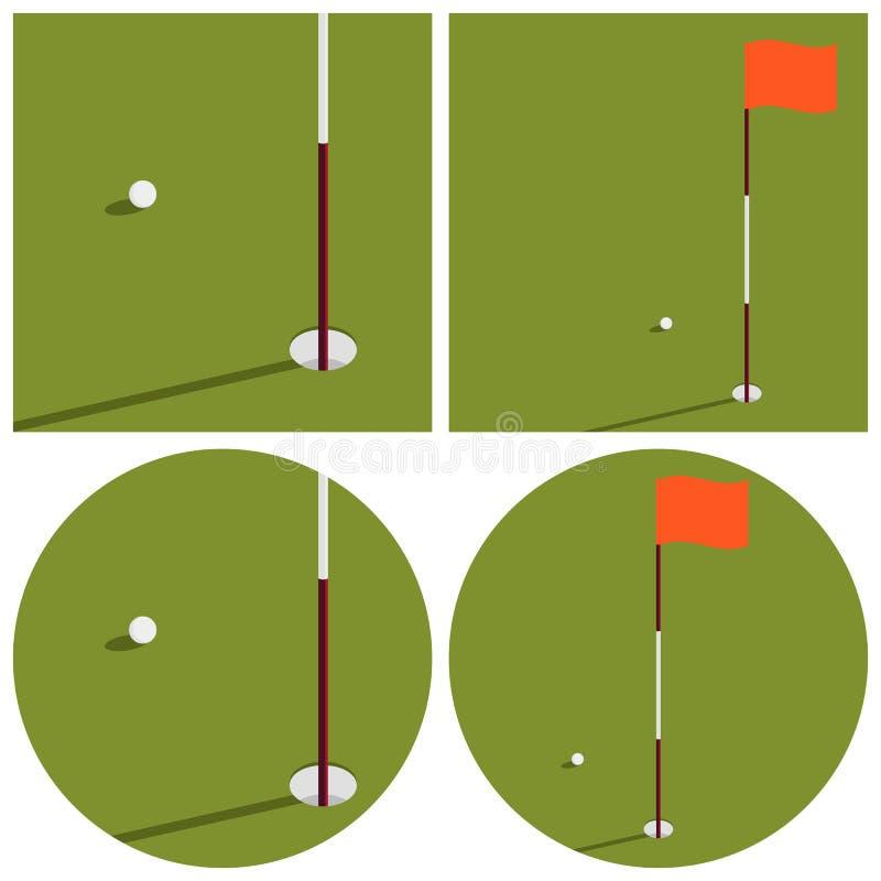 De illustratie op het thema van golf stock fotografie