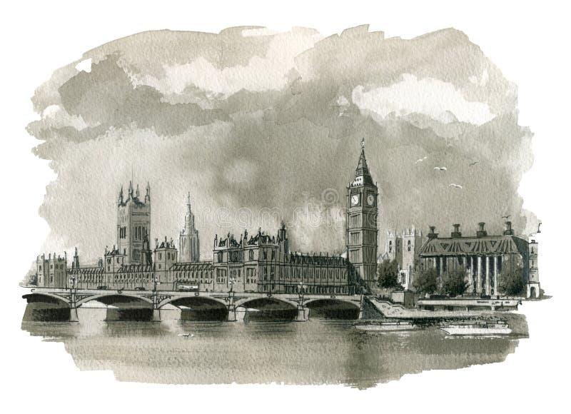 De Illustratie van Big Ben royalty-vrije illustratie