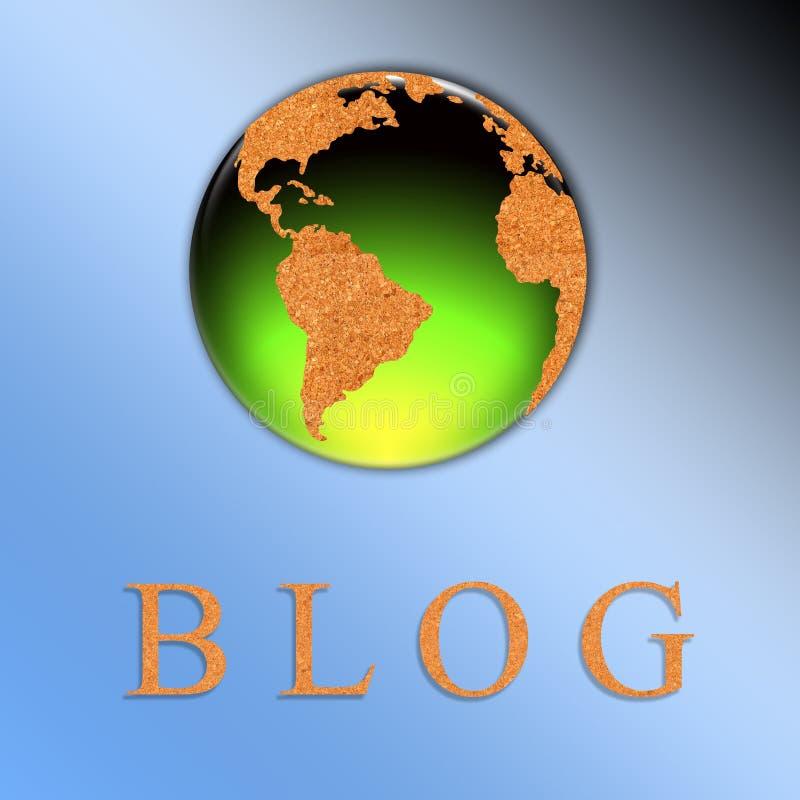De illustratie van Blog vector illustratie