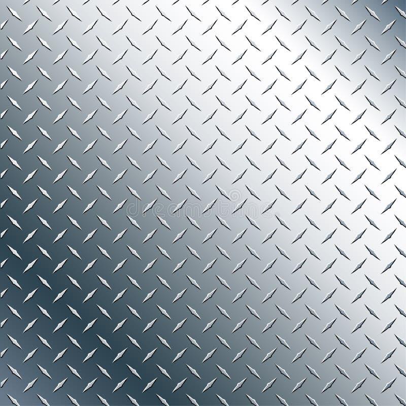 De Illustratie van Chrome Diamond Plate Realistic Vector Graphic vector illustratie
