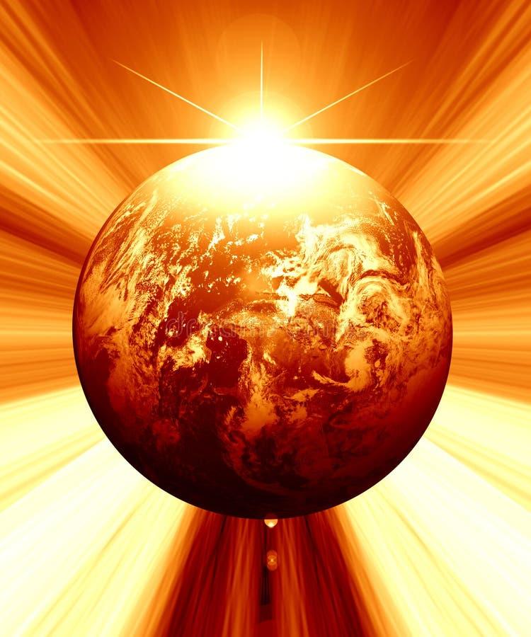 De illustratie van de aarde vector illustratie