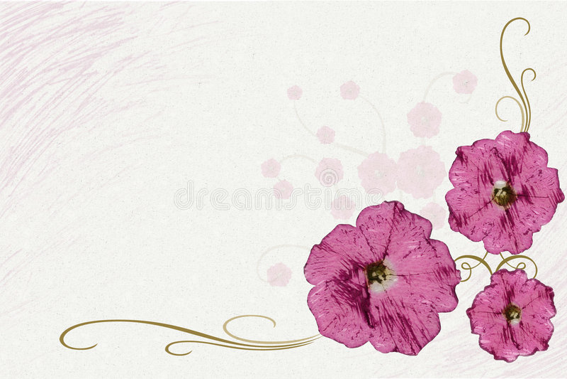 De Illustratie van de bloem stock foto's