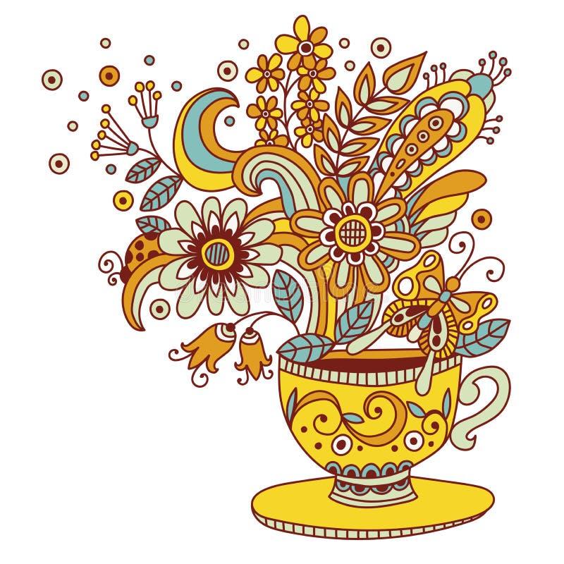 De illustratie van de bloemkop vector illustratie