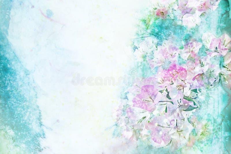 De illustratie van de bloemwaterverf vector illustratie
