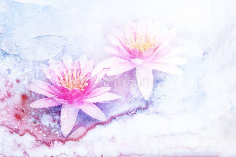 De illustratie van de bloemwaterverf royalty-vrije illustratie