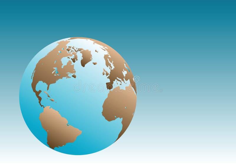 De Illustratie van de Bol van de aarde stock illustratie