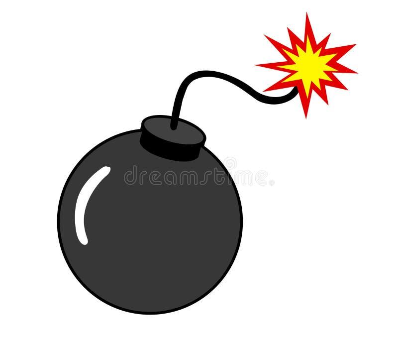De Illustratie van de bom royalty-vrije stock afbeeldingen