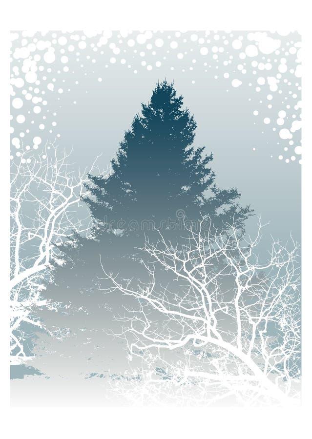 De Illustratie van de Bomen van de winter royalty-vrije illustratie
