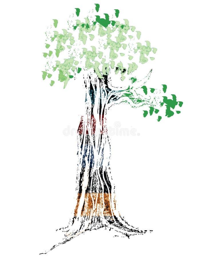 De Illustratie van de boom stock illustratie