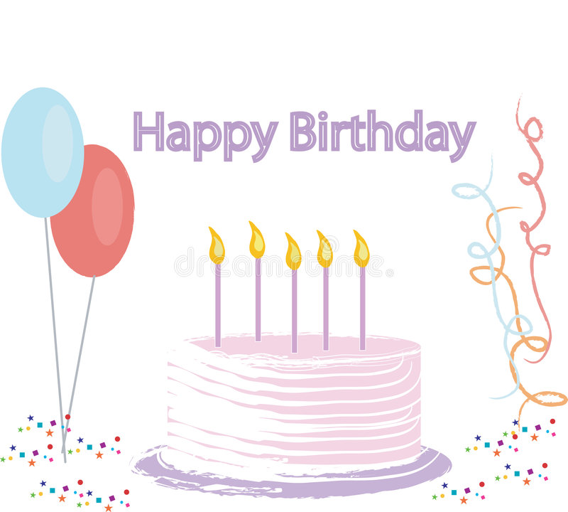 De Illustratie van de Cake van de verjaardag stock illustratie