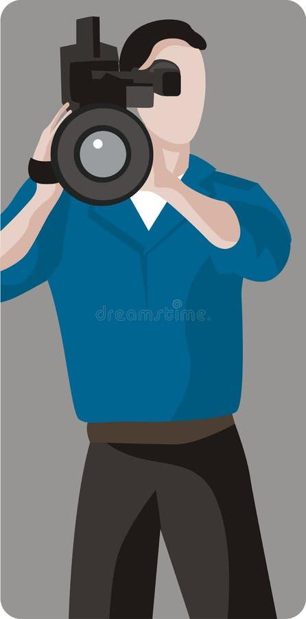 De Illustratie van de cameraman royalty-vrije illustratie