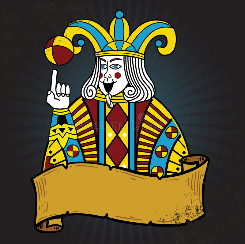 De illustratie van de de stijlJoker van de speelkaart royalty-vrije illustratie