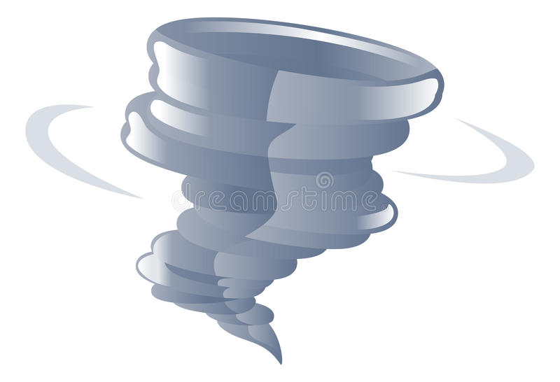 De illustratie van de de tornadocycloon van het weerpictogram clipart stock illustratie