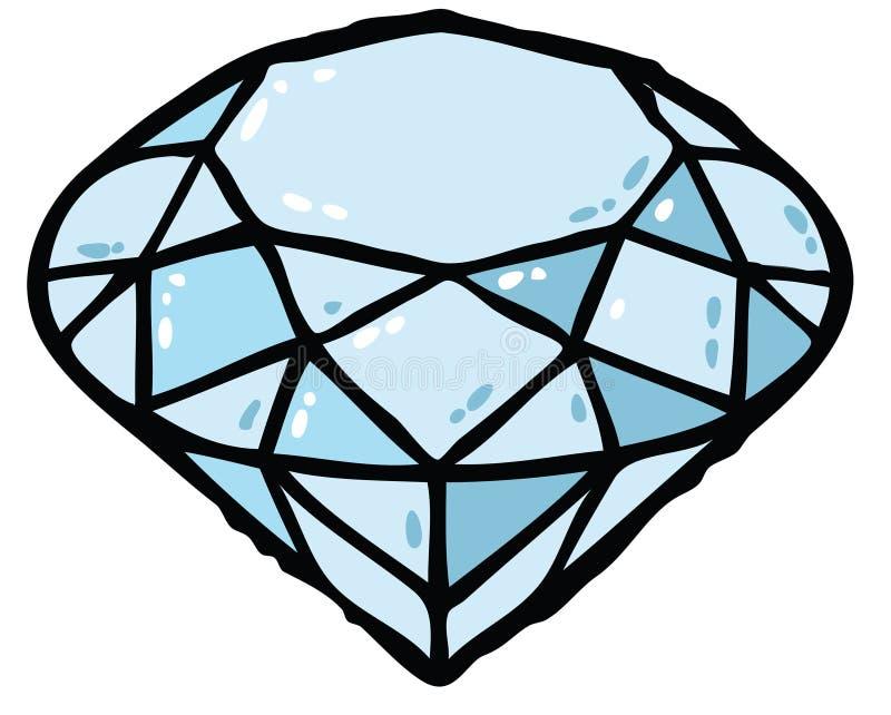 De illustratie van de diamant royalty-vrije illustratie