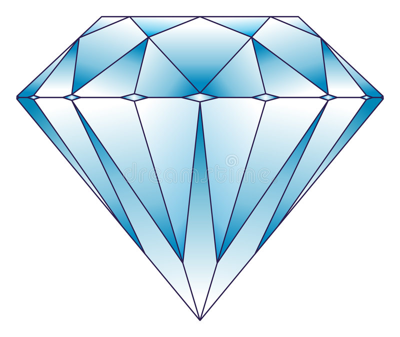 De illustratie van de diamant vector illustratie