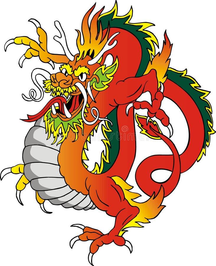 De illustratie van de draak stock fotografie