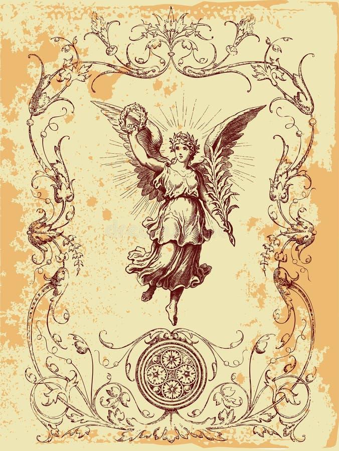 De Illustratie van de Engel van Grunge royalty-vrije illustratie