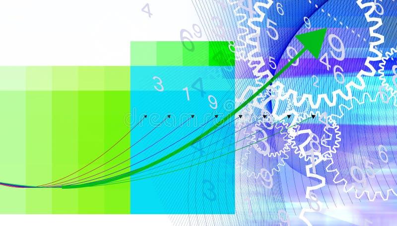 De illustratie van de grafiek en van het toestel vector illustratie