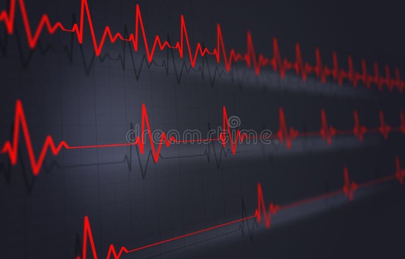 De Illustratie van de hartimpuls royalty-vrije illustratie