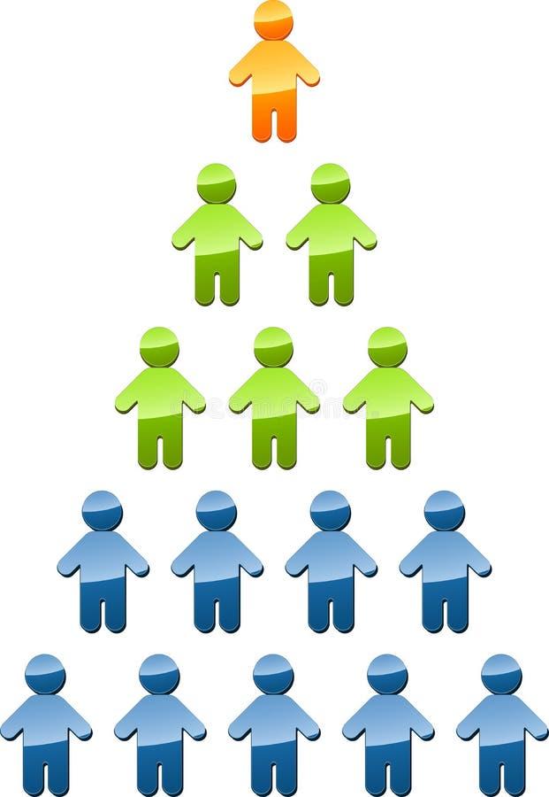 De illustratie van de het beheerspiramide van de hiërarchie stock illustratie