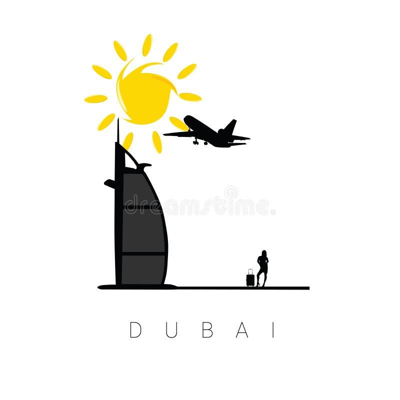 De illustratie van de het pictogramreis van Doubai vector illustratie