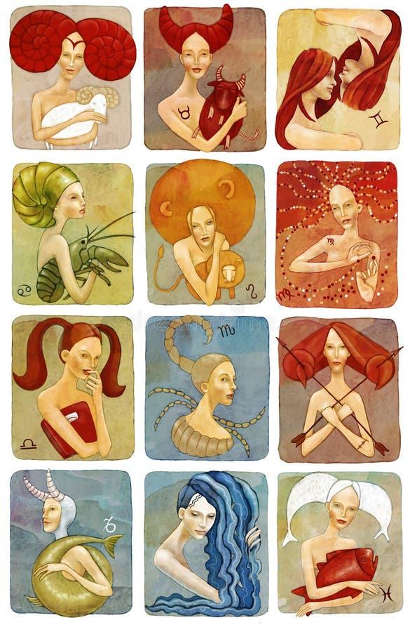De illustratie van de horoscoop vector illustratie