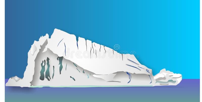 De illustratie van de ijsberg vector illustratie