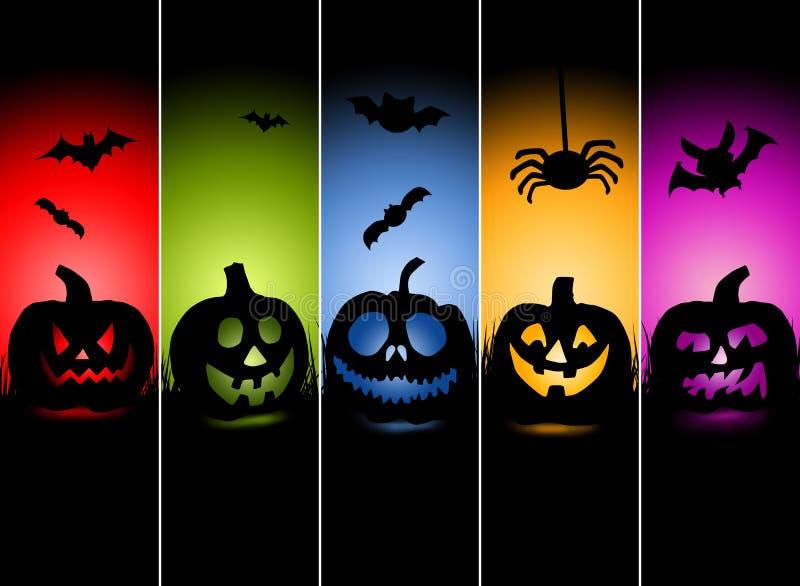 De illustratie van de Kaart van de Groet van Halloween royalty-vrije illustratie