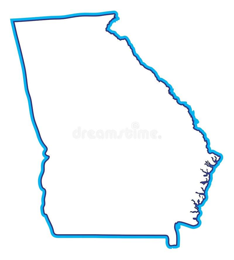 De Illustratie van de Kaart van Georgië stock illustratie