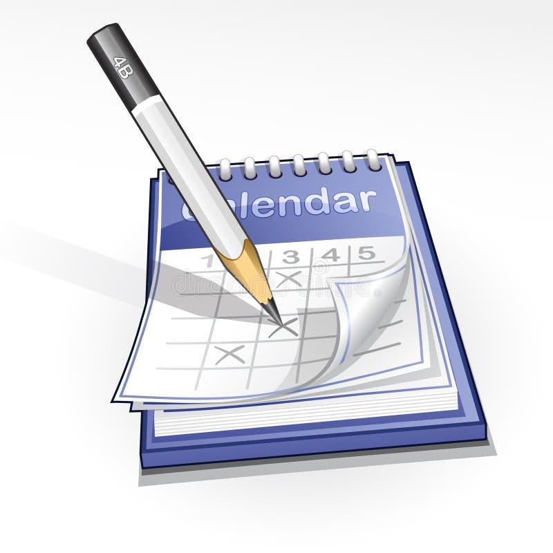 De illustratie van de kalender royalty-vrije illustratie