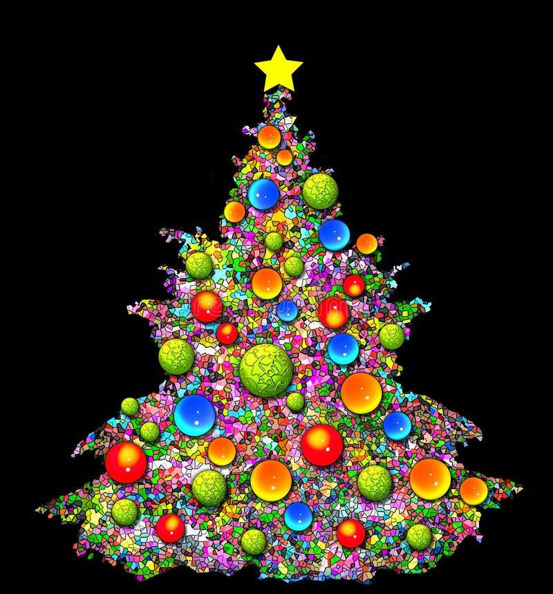 De Illustratie van de kerstboom vector illustratie