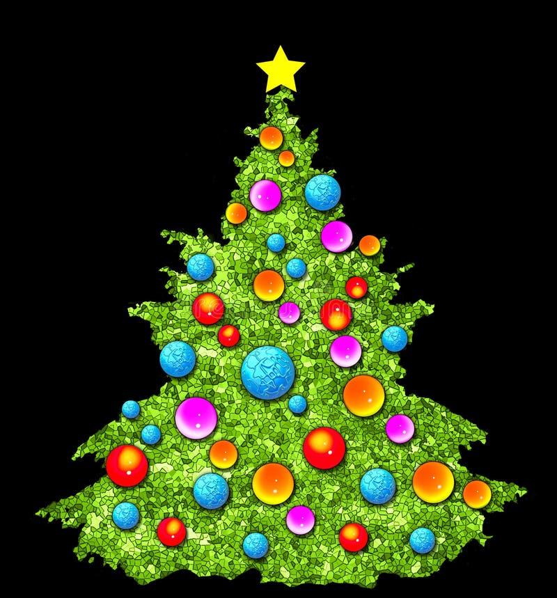 De Illustratie van de kerstboom royalty-vrije illustratie