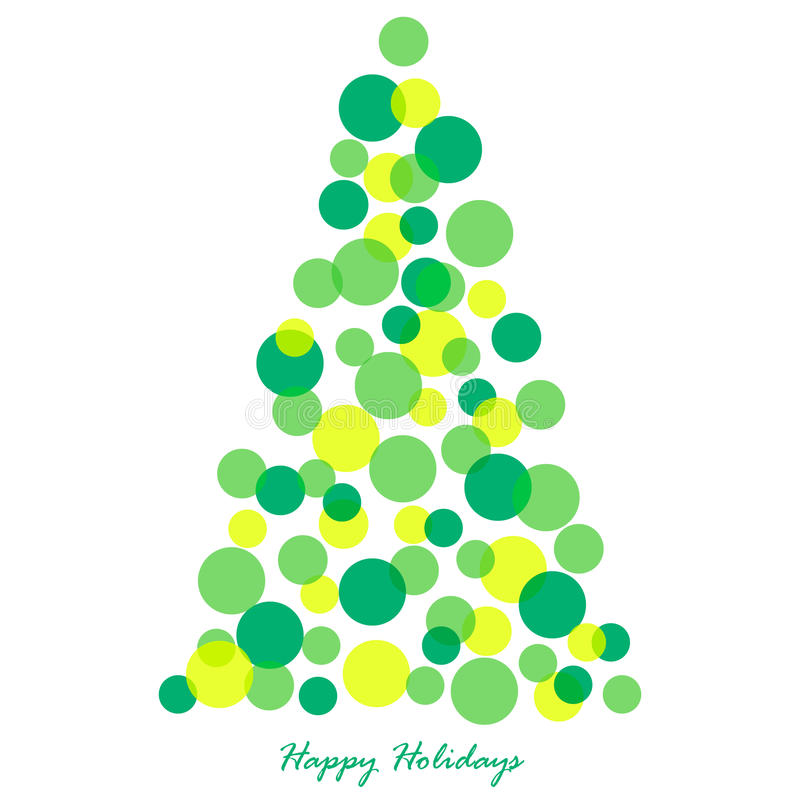 De illustratie van de kerstboom stock foto's