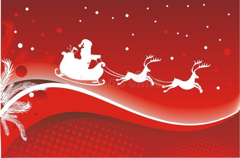 De illustratie van de kerstkaart vector illustratie